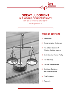 Doug Williamson - Great Judgment in a World of Uncertainty pdf